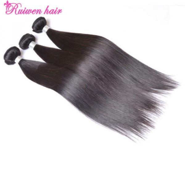 Virgin Brazilian Hair Extensions 3 Bundles 150g Human Hair Weave 8A Unprocessed #3 image