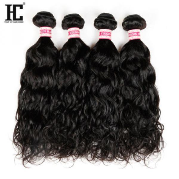 Grade 7a Natural Water Wave Brazilian Wavy Virgin Human Hair Extensions Weave HC #2 image