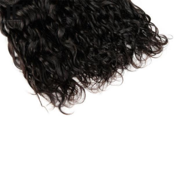 Grade 7a Natural Water Wave Brazilian Wavy Virgin Human Hair Extensions Weave HC #5 image