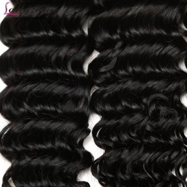 7A Brazilian Human Virgin Hair Deep Curly Wave 3 Bundles With 4*4 Lace Closure #3 image