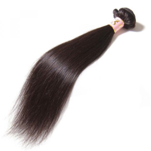50g/Bundle 7A Brazilian Silky Straight Virgin Human Hair Weaves Unprocessed Hair #1 image