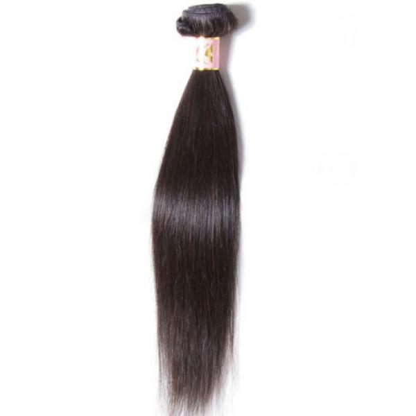 50g/Bundle 7A Brazilian Silky Straight Virgin Human Hair Weaves Unprocessed Hair #2 image