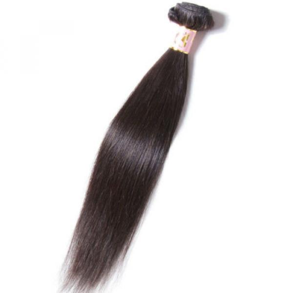 50g/Bundle 7A Brazilian Silky Straight Virgin Human Hair Weaves Unprocessed Hair #3 image