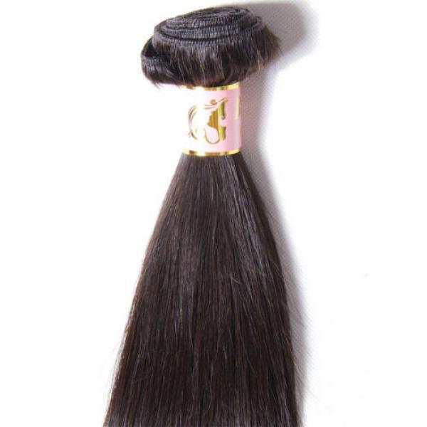 50g/Bundle 7A Brazilian Silky Straight Virgin Human Hair Weaves Unprocessed Hair #4 image
