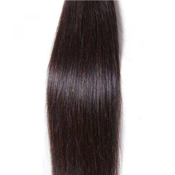 50g/Bundle 7A Brazilian Silky Straight Virgin Human Hair Weaves Unprocessed Hair #5 image