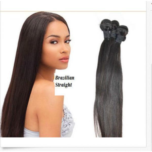 "3 Bundles 100% Brazilian Virgin Remy Human Hair Weave Extensions Weft 8"" - 30"" #1 image"