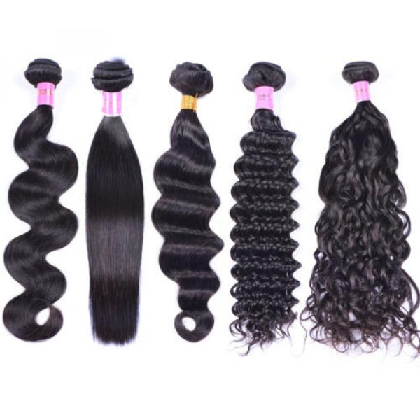 4 Bundles 200g Remy Brazilian Virgin Human Hair Unprocessed Hair Weave Weft #1 image