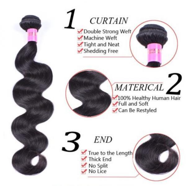 4 Bundles 200g Remy Brazilian Virgin Human Hair Unprocessed Hair Weave Weft #2 image