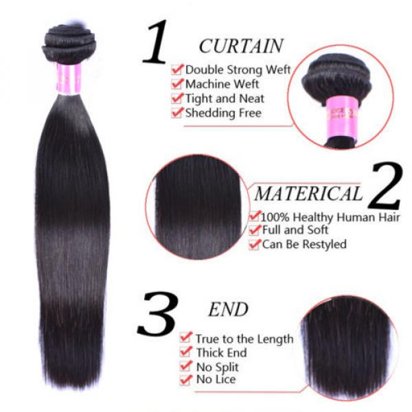 4 Bundles 200g Remy Brazilian Virgin Human Hair Unprocessed Hair Weave Weft #3 image
