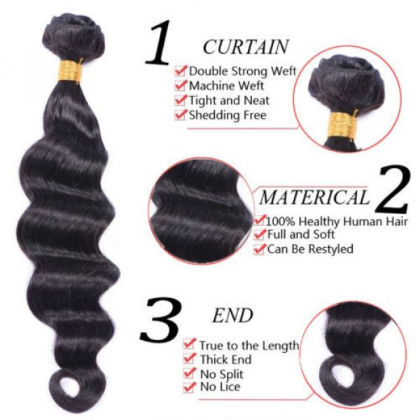 4 Bundles 200g Remy Brazilian Virgin Human Hair Unprocessed Hair Weave Weft #4 image