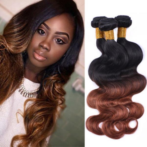 95g/bundle Body Wave Virgin Brazilian/Peruvian/Indian Human Hair Extensions Weft #1 image