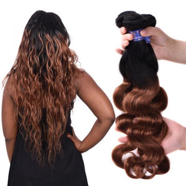 95g/bundle Body Wave Virgin Brazilian/Peruvian/Indian Human Hair Extensions Weft #2 image