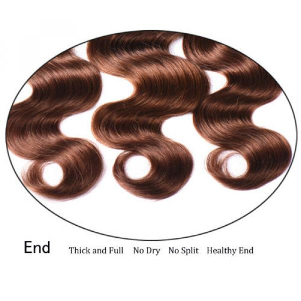 95g/bundle Body Wave Virgin Brazilian/Peruvian/Indian Human Hair Extensions Weft #4 image