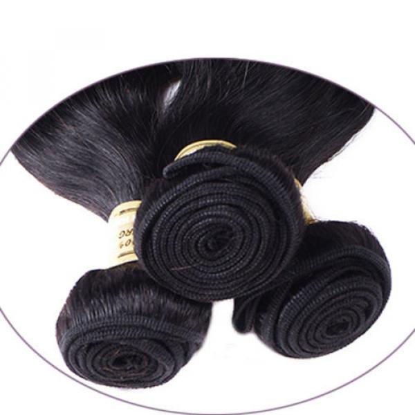 95g/bundle Body Wave Virgin Brazilian/Peruvian/Indian Human Hair Extensions Weft #5 image