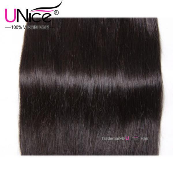 "8""~30"" Brazilian Virgin Hair Straight UNice Brazilian Human Hair Weave 4 Bundles #3 image"