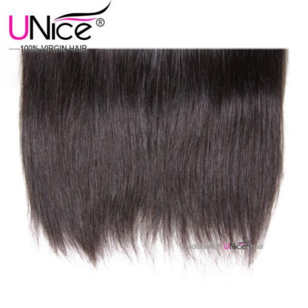 "8""~30"" Brazilian Virgin Hair Straight UNice Brazilian Human Hair Weave 4 Bundles #4 image"