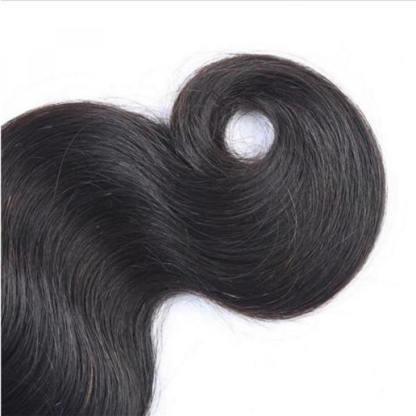 "18"" Body Wavy Brazilian Virgin Human Hair Extension Free Ship #2 image"