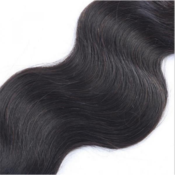 "18"" Body Wavy Brazilian Virgin Human Hair Extension Free Ship #4 image"