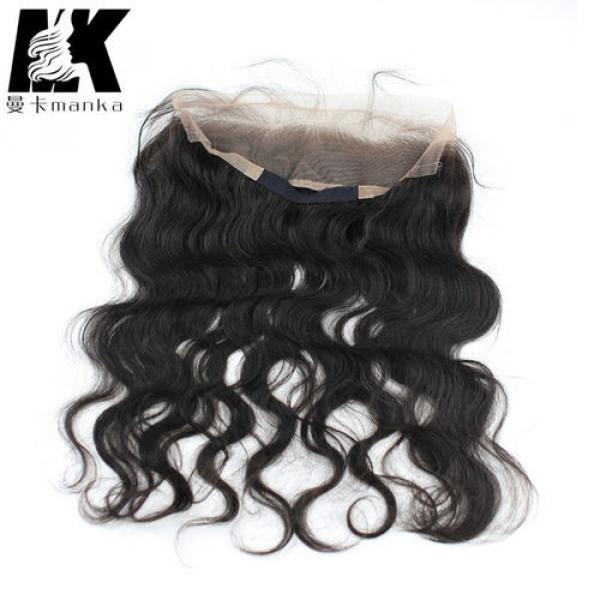 Wavy Brazilian Virgin Hair 360 Lace Frontal with Natural Hair Line Baby Hair #5 image