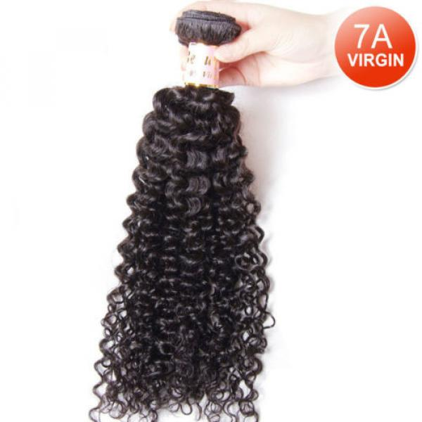Peruvian 7A Curly Virgin Human Hair Weave Extensions Weft 1 Bundle/50g #1 image