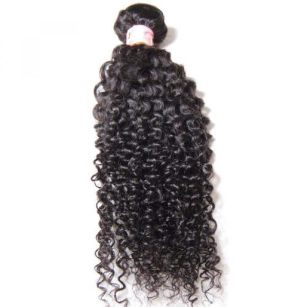 Peruvian 7A Curly Virgin Human Hair Weave Extensions Weft 1 Bundle/50g #2 image