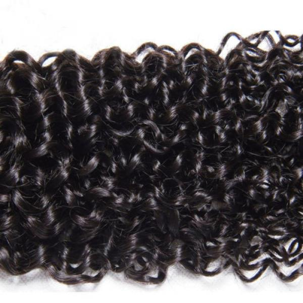 Peruvian 7A Curly Virgin Human Hair Weave Extensions Weft 1 Bundle/50g #4 image