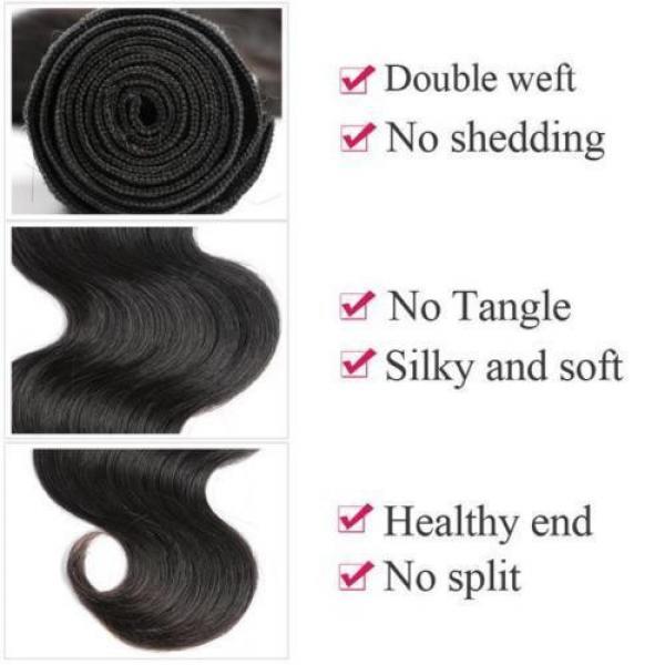 Grade 7A Peruvian Virgin Hair Body Wave 4bundles lot 100% Human Hair Weaving #3 image