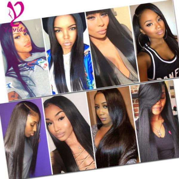 4 Bundle Peruvian Straight Hair 8A Virgin Hair Bundle Deals Human Hair Extension #1 image