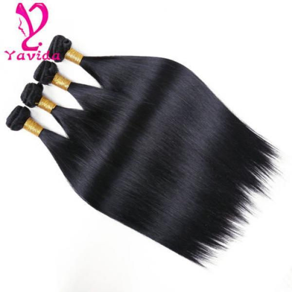 4 Bundle Peruvian Straight Hair 8A Virgin Hair Bundle Deals Human Hair Extension #2 image