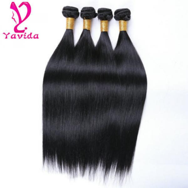 4 Bundle Peruvian Straight Hair 8A Virgin Hair Bundle Deals Human Hair Extension #3 image