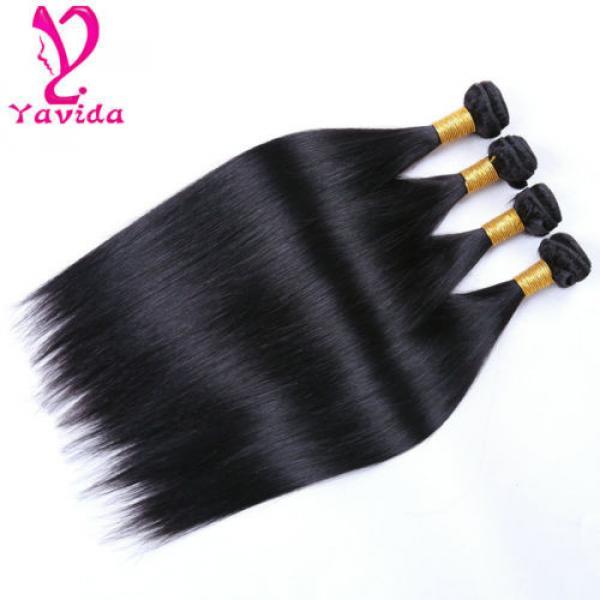 4 Bundle Peruvian Straight Hair 8A Virgin Hair Bundle Deals Human Hair Extension #4 image