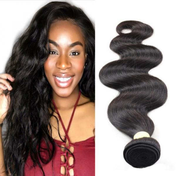1pc Virgin Hair Unprocessed Peruvian Human Hair Extensions 7A Body Wave Bundles #1 image