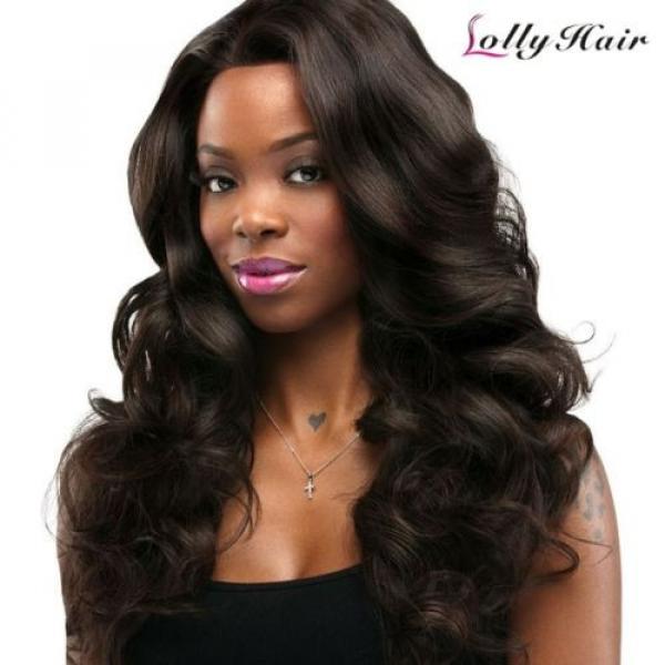 US Thick Loose wave 3Bundles/300g 100% Peruvian Virgin Human Hair Extension Weft #1 image