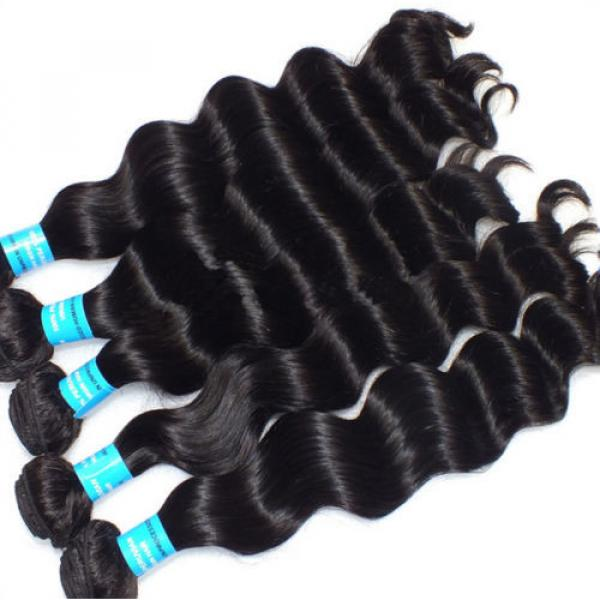 3pcs/300g 100% Unprocessed 6A Peruvian Virgin Hair Loose deep Wave Human Hair #1 image