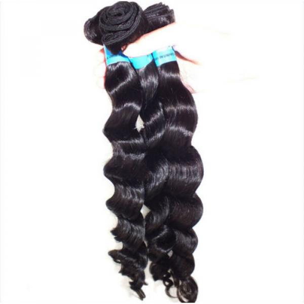 3pcs/300g 100% Unprocessed 6A Peruvian Virgin Hair Loose deep Wave Human Hair #2 image