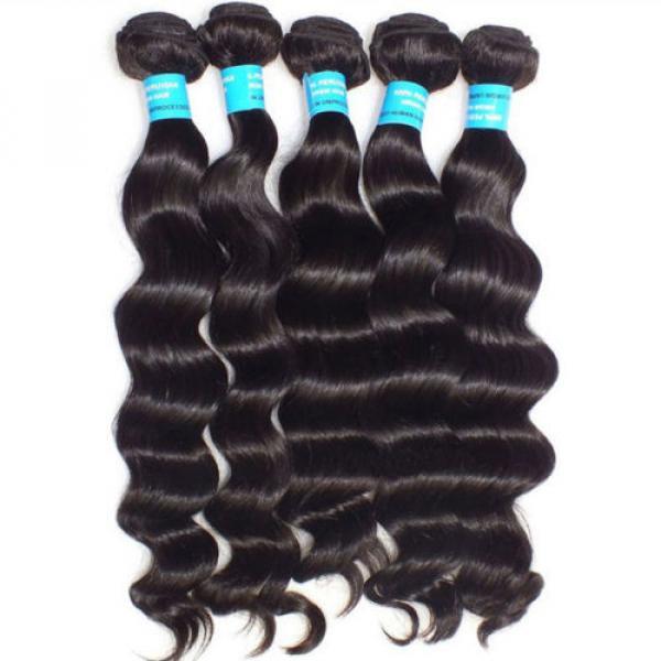 3pcs/300g 100% Unprocessed 6A Peruvian Virgin Hair Loose deep Wave Human Hair #3 image