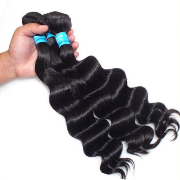 3pcs/300g 100% Unprocessed 6A Peruvian Virgin Hair Loose deep Wave Human Hair #4 image