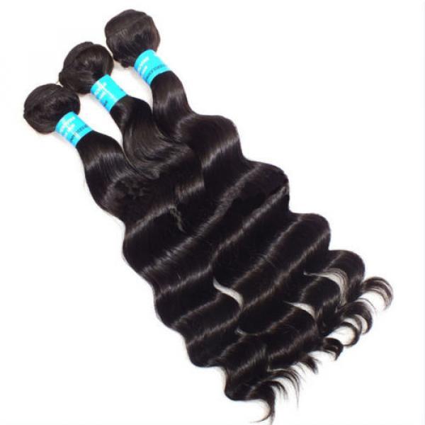 3pcs/300g 100% Unprocessed 6A Peruvian Virgin Hair Loose deep Wave Human Hair #5 image