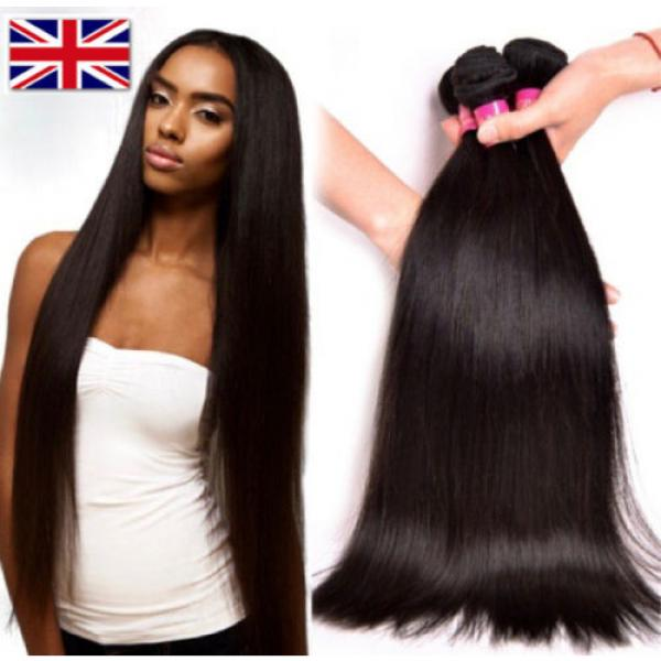 100% Brazilian Peruvian Real Virgin Remy Human Hair Extensions Wefts 7A Weave UK #1 image