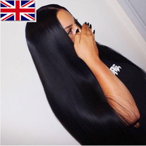 100% Brazilian Peruvian Real Virgin Remy Human Hair Extensions Wefts 7A Weave UK #2 image