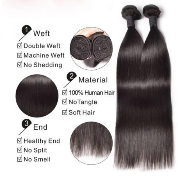 100% Brazilian Peruvian Real Virgin Remy Human Hair Extensions Wefts 7A Weave UK #3 image