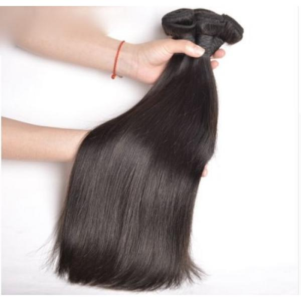 100% Brazilian Peruvian Real Virgin Remy Human Hair Extensions Wefts 7A Weave UK #4 image