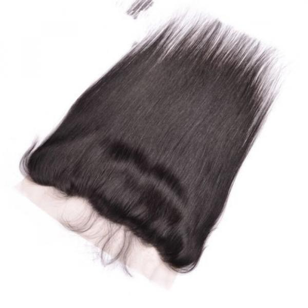 300g/3bundles virgin peruvian straight human hair 20,22,24 &13x4 lace frontal 18 #3 image