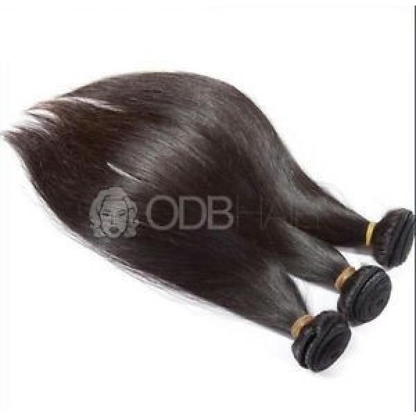 "1¥r9    Luxury Silky Straight Peruvian Dark Brown Virgin Hair Extensions 16"" #1 image"