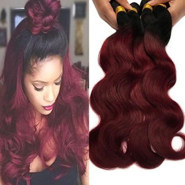 Black Rose Hair Two Tone Ombre Hair Extensions Weaves 7A Peruvian Virgin Hair... #1 image