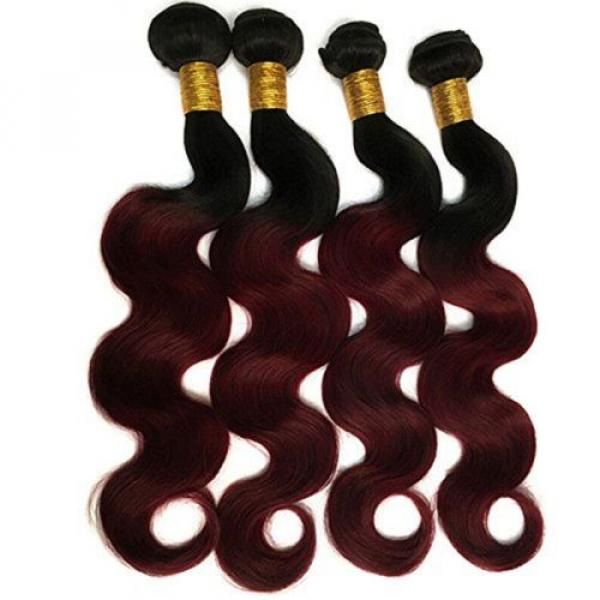 Black Rose Hair Two Tone Ombre Hair Extensions Weaves 7A Peruvian Virgin Hair... #2 image