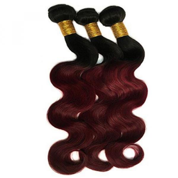 Black Rose Hair Two Tone Ombre Hair Extensions Weaves 7A Peruvian Virgin Hair... #3 image