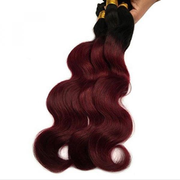 Black Rose Hair Two Tone Ombre Hair Extensions Weaves 7A Peruvian Virgin Hair... #5 image