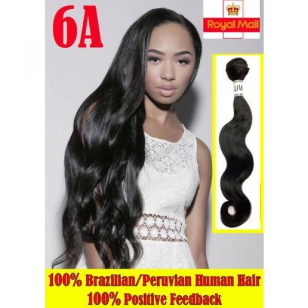 High Grade Brazilian&Peruvian Real Virgin Remy Human Hair 100g Weave Extensions #1 image