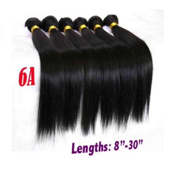 High Grade Brazilian&Peruvian Real Virgin Remy Human Hair 100g Weave Extensions #2 image